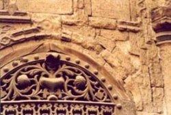 Deterioration of stone, missing spandrel stone